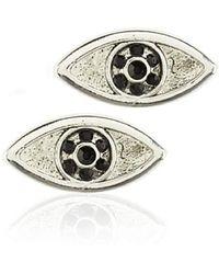 House of Harlow 1960 - Silver-tone Evil Eye Stud Earrings - Lyst