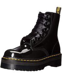 Dr. Martens Molly Combat Boot - Black