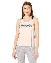 Hurley - Quick Dry One & Only Mesh Open Back Tank Top - Lyst