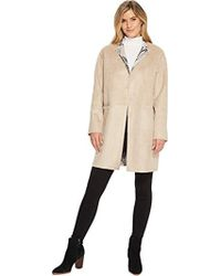 Ellen Tracy - Inverted Reverse Printed Fur Coat - Lyst