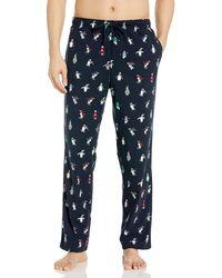 Nautica Cozy Fleece Plaid Pajama Pant Pyjamahose - Blau