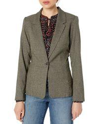 Kensie Tweed Plaid Blazer - Green