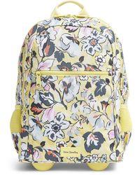 Vera Bradley - Recycled Lighten Up Reactive Slim Rolling Backpack Bookbag - Lyst