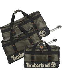 Timberland 3 Piece Wheeled Duffle Set - Black