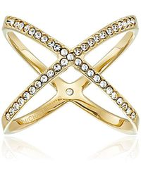 Michael Kors - Pave X Ring - Lyst