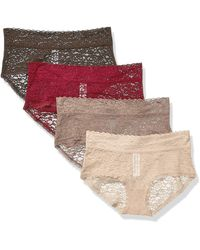 Essentials 4-Pack Lace Stretch Hipster Panty Femme