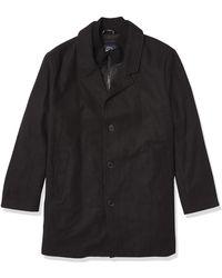 Dockers Big & Tall Henry Wool Blend Top Coat - Black
