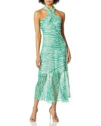 Sam Edelman Stripe Graphic Maxi Dress - Green