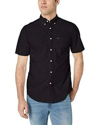 Tommy Hilfiger - Short Sleeve Button Down Shirt In Classic Fit - Lyst