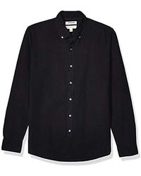 Goodthreads Amazon Brand - Long Sleeve Oxford Shirt - Black