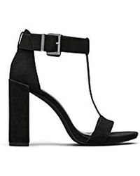 3724d27f7f5a Lyst - Faith Daisy Black Cross Strap Heeled Sandals in Black