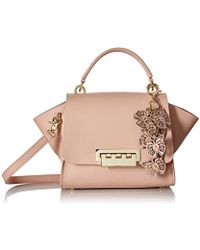 Zac Zac Posen - Eartha Top Handle Crossbody With Butterfly Charm-shell - Lyst