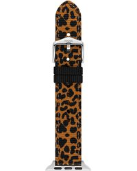 Fossil Apple 38/40mm Grosgrain Interchangeable Watch Band Strap - Brown