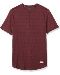 Buffalo David Bitton Short Sleeve Fashion Crew Knit - Red