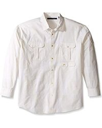 Sean John - Big And Tall Long Sleeve Flight Linen Shirt, Sj Cream, 4xl - Lyst