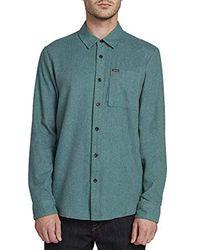 Volcom Caden Solid Long Sleeve Shirt - Green