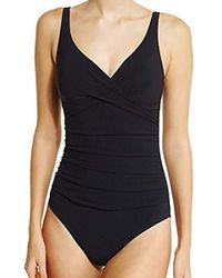 Gottex - Surplice Bust V-neck One Piece Swimsuit - Lyst