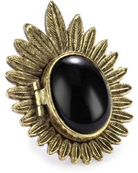 House of Harlow 1960 - Gold-plated Feather Locket Ring - Lyst