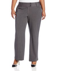 Rafaella Plus-size Curvy-fit Gabardine Bootcut Trouser - Gray