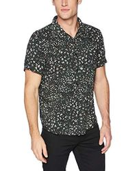 Guess - Short Sleeve Rock Leopard Print Shirt - Lyst