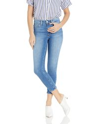 PAIGE Hoxton Crop Vintage High Rise Ultra Skinny Jean - Blue