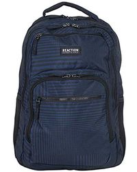 "Kenneth Cole Reaction - Back-stripe Printed Polyester Dual Compartment 15.6"" Laptop Backpack Laptop Backpack - Lyst"