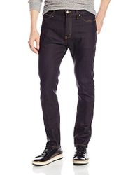 Naked & Famous - Stackedguy Deep Indigo Stretch Selvedge Jeans - Lyst