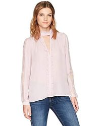 4e995e838c48f Lyst - Boohoo Hannah Gingham Off The Shoulder Top in Blue