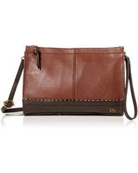 The Sak Iris Leather Demi Clutch - Brown