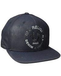 Lyst - True Religion Crackle Print Baseball Cap in Blue for Men d60e3de33c22