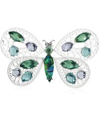 Napier Box Butterfly Pin - Slv/multi, One Size (60540789-z01) - Multicolor