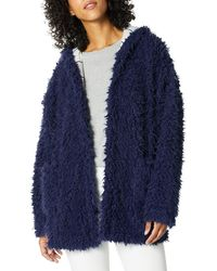 Splendid Hooded Teddy Jacket Soft Bathrobe Warm Lounge Pajama Robe Pj - Blue