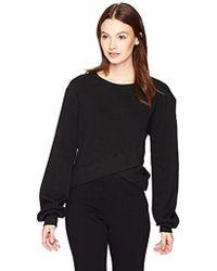 Pam & Gela - Crossover Front Crop Sweatshirt - Lyst