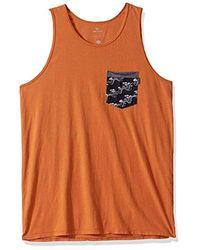 Rip Curl Collective Heritage Pocket Tank Top - Orange