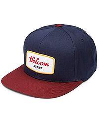 701645780c9 Lyst - Volcom Men s Cresticle Snapback Logo Hat in Blue for Men