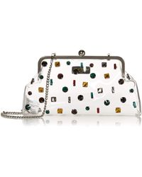 Betsey Johnson Crystal Clear Clutch - Metallic