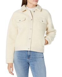 Goodthreads Sherpa Relaxed Fit Long Sleeve Trucker - White
