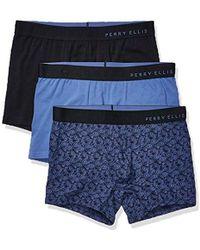 Perry Ellis Portfolio 3 Pack Paisley Boxer Brief - Blue