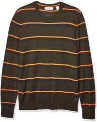 Calvin Klein S Merino Sweater Crew Neck - Green