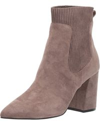 Steven by Steve Madden Newell Point-toe Sock Booties - Brown