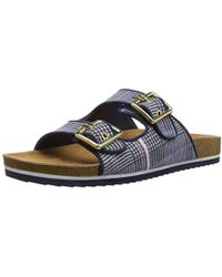 f43150256f2cd Lyst - Tommy Hilfiger Women S Laycie Thong Sandals in Blue
