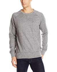 French Connection - Big Sur Pocket Crew Neck Long Sleeve Sweatshirt - Lyst