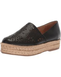 Naturalizer Thea Perforated Platform Espadrilles - Black