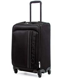 """Calvin Klein 28"""" Softside Spinner Luggage, Black"""