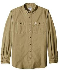 b658625fc1 Carhartt - Tall Big   Tall Rugged Flex Rigby Long Sleeve Work Shirt - Lyst