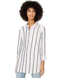 Goodthreads Lightweight Twill Long-Sleeve Button-Front Shirt Dress-Shirts - Multicolore