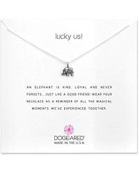 """Dogeared - Lucky Us Chain Necklace, 16"""" - Lyst"""