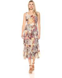 Nine West Multi Tier Maxi Dress - Multicolor
