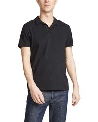 Theory Willem Cosmos Polo Shirt - Black