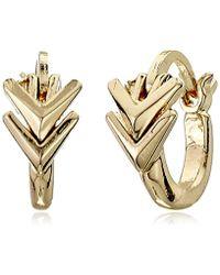 Sam Edelman - Double V Huggie Hoop Earrings - Lyst